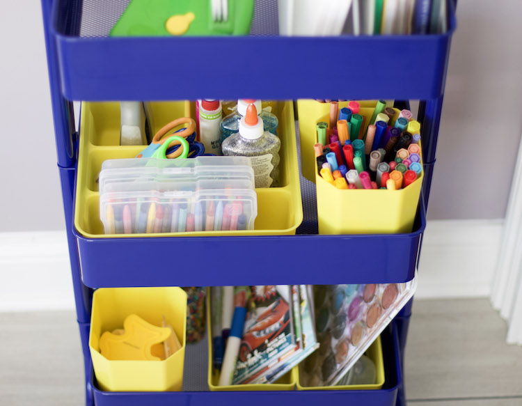 Kids Art Supply Storage Ideas