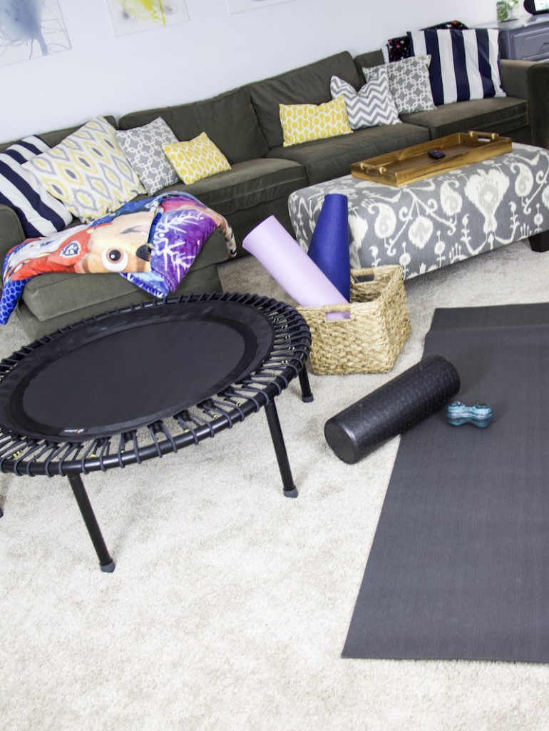 workout equipment bellicon in basement