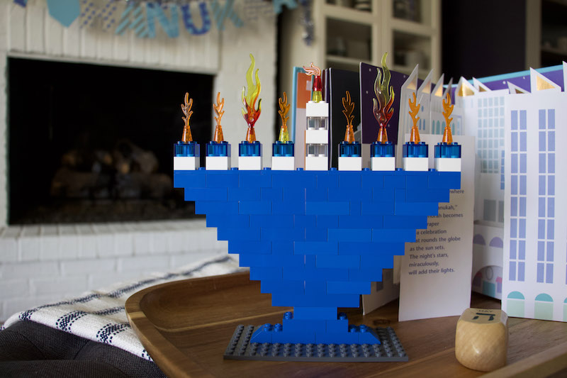 How To Make A Lego Hanukkah Menorah + Hanukkah Decor