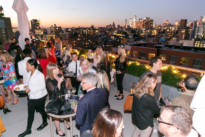 rooftop at public hotel in ny for better homes and gardens stylemaker 2019 event