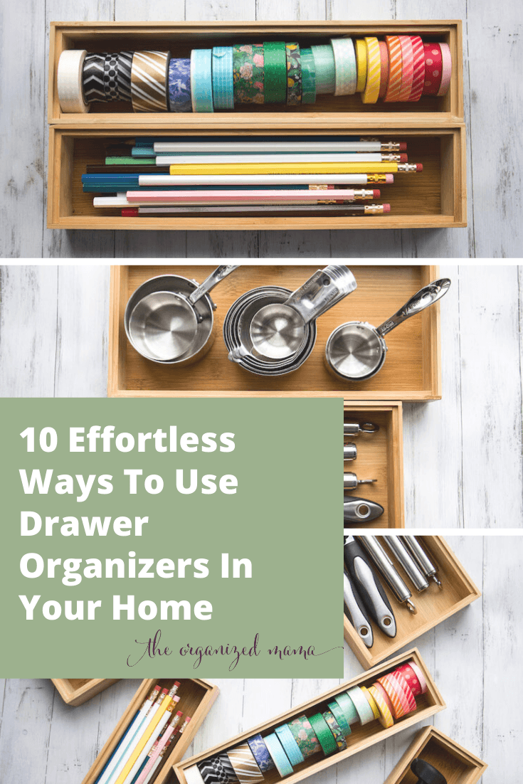 10 effortless ways to use drawer organizers in your home