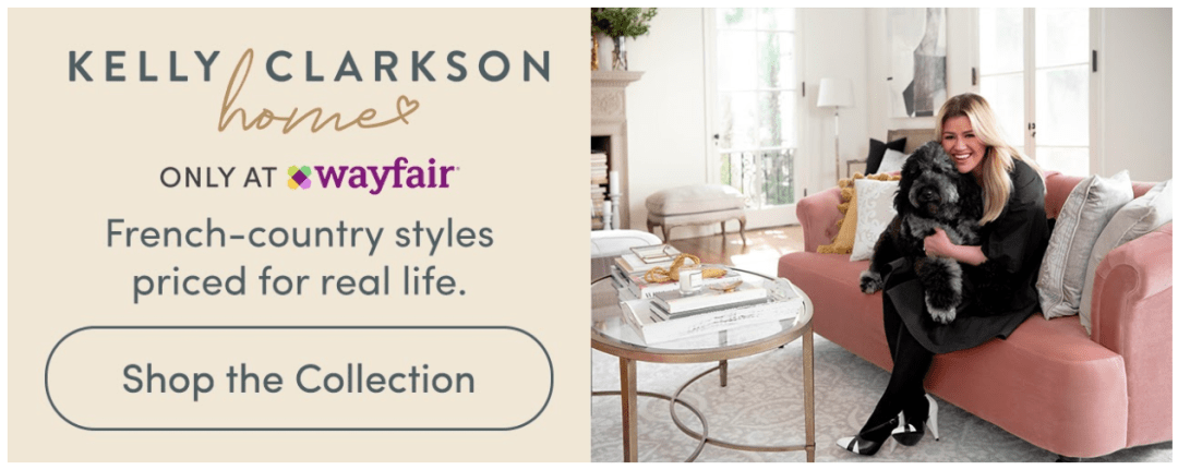 wayfair and kelly clarkson home