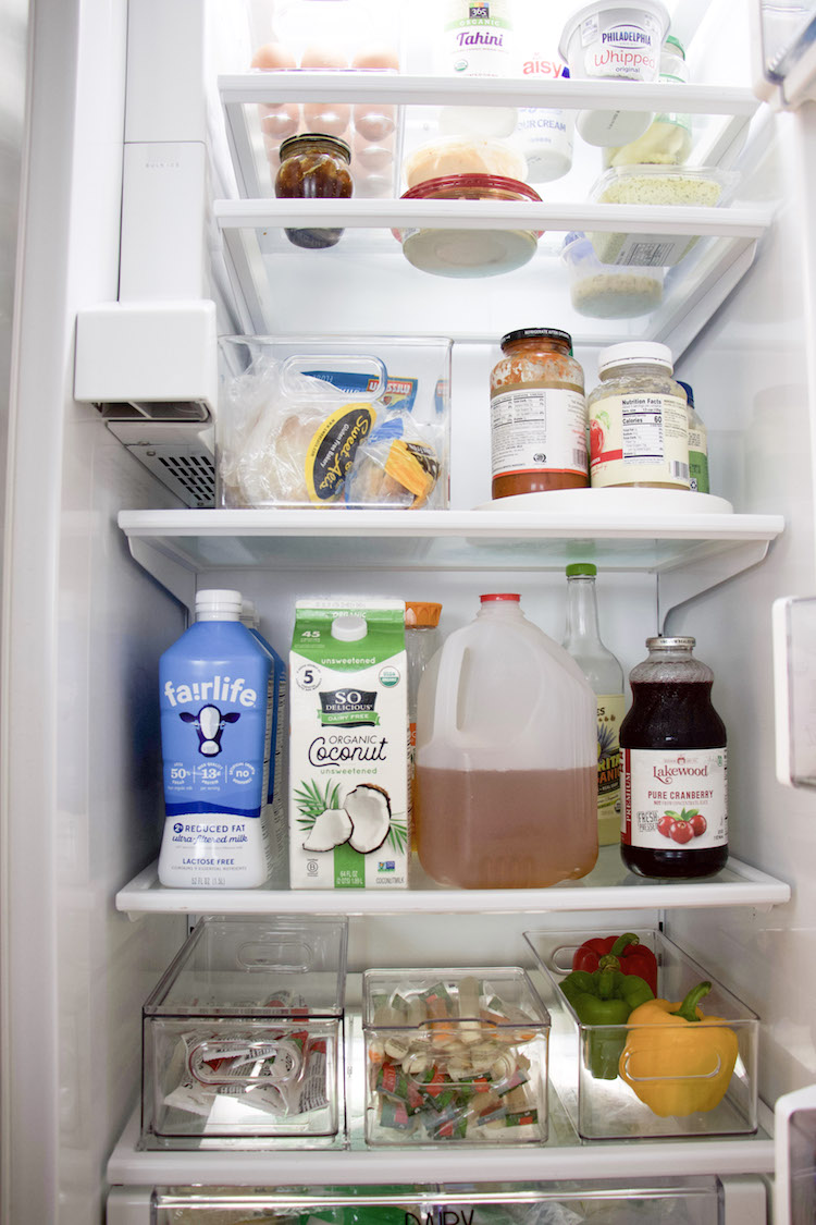 how to organize a side by side refrigerator