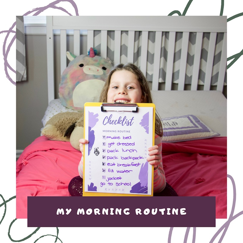 my morning routine the organized kids link to video