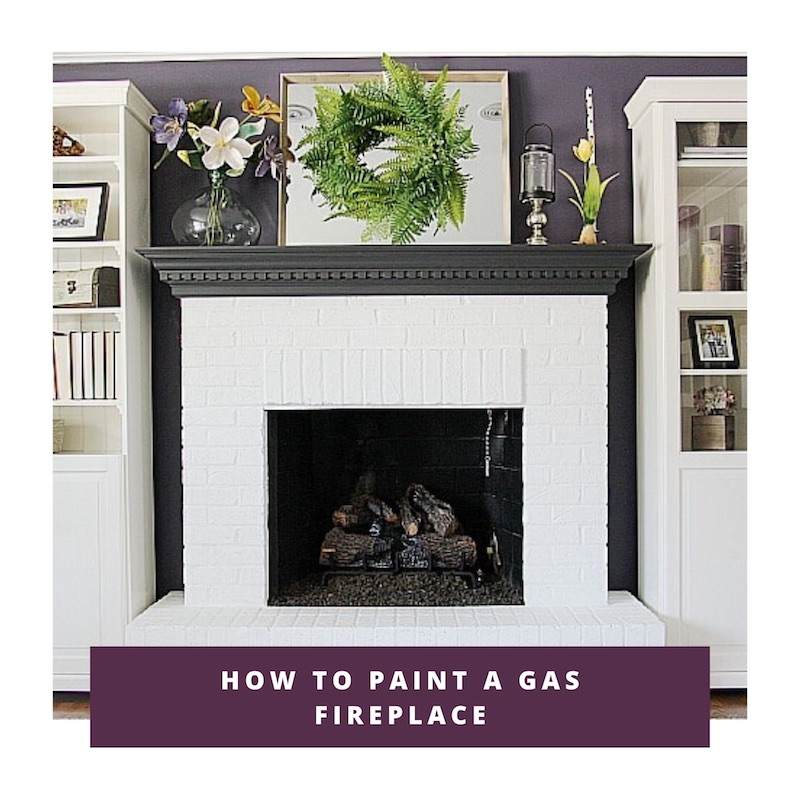 how to paint a gas fireplace link to video