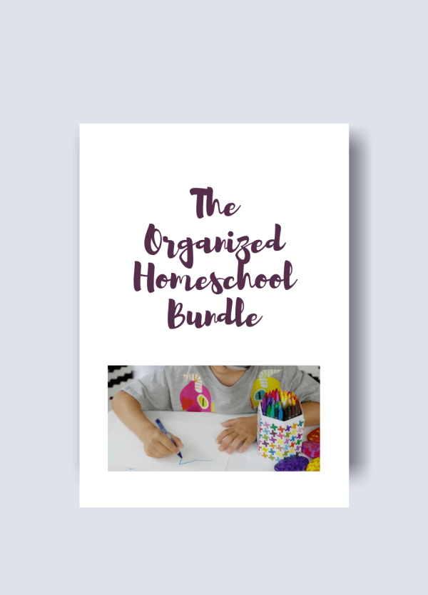 the organized homeschooler bundle pack graphic