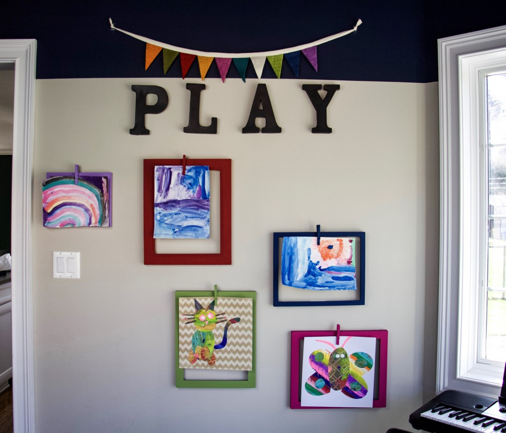 How To Make A Kids Art Display