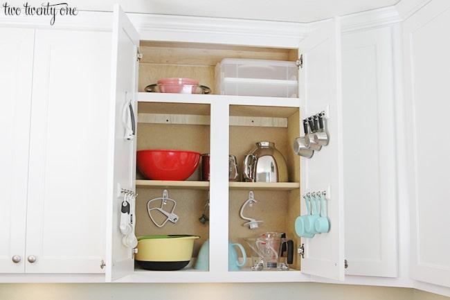 organized baking cabinets