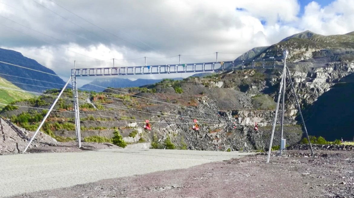 Zip world Penrhyn quarry, the fastest zip wire in the world