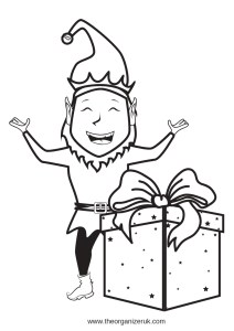 elf on the shelf goodbye letter free printable elf with present colouring pages download