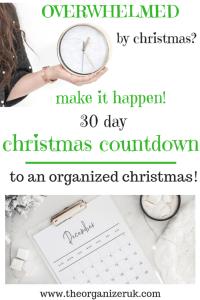 christmas organizing, christmas coundown. 30 days to an organised christmas