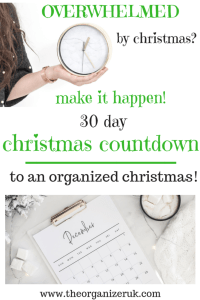 christmas organizing, christmas coundown. 30 days to an organised christmas