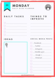 blog planner template