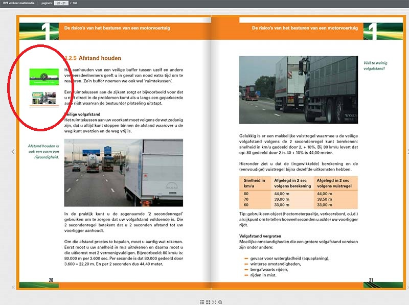 Vrachtwagen Theorie Boek RV1 Kantlijn Multimedia