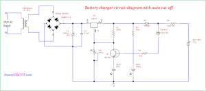 Battery charger circuit diagram with auto cutoff