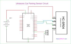 Car Reverse Parking Sensor Circuit