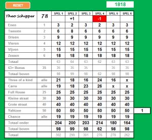 Download Yahtzee scoreblok