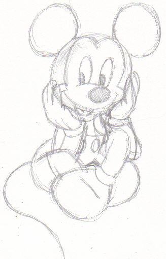 Easy Sketches Mickey Mouse Drawings