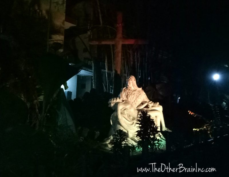 Jesus Christ' body in arms of Mother Mary - Divine Retreat Centre Muringoor Kerela