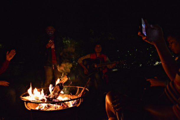 Bonfire & Live Singers at Aahana Resort in Jim Corbett National Park