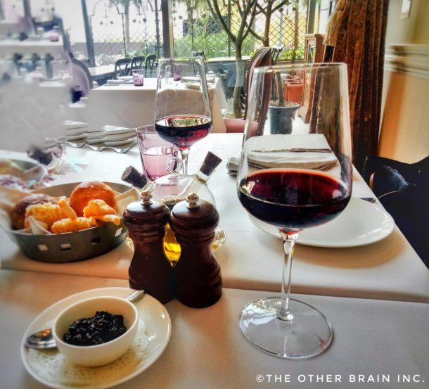 Good Food & Good Wine = Bon Appetito! In the picture: Italian Cabernet Sauvignon Red Wine