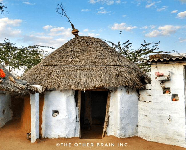 A typical hut in Bishnoi Community