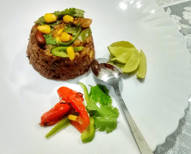 Quinoa and Stir-fried Veggies Recipe: Indian recipe with quinoa