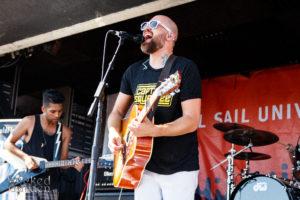 Gabe Kubanda performing at Warped Tour