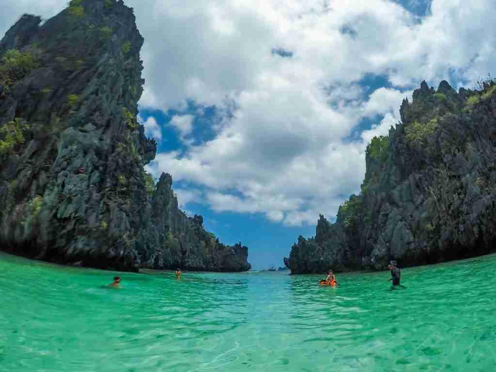 big rocks of hidden beach el nido palawan