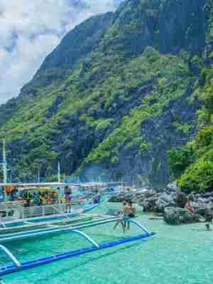 Tour C of El Nido island hopping tours is the next most popular to Tour A. This includes island-hopping to Helicopter Island and Matinloc Island and its white sand beaches, coral reefs, hidden beaches.
