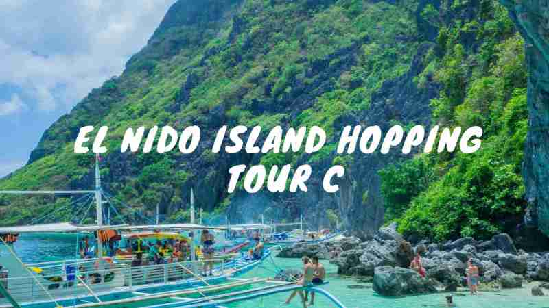 island hopping tour c in el nido helicopter island, star beach, secret beach