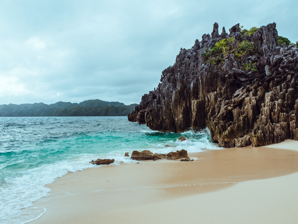 lahos island shore in caramoan islands