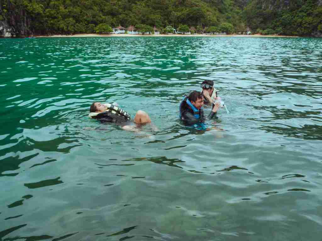 Swimming and snorkeling in the blue-green waters of Cagbalinad Island