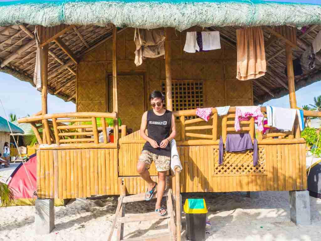 nipa hut cottage in burias sombrero island