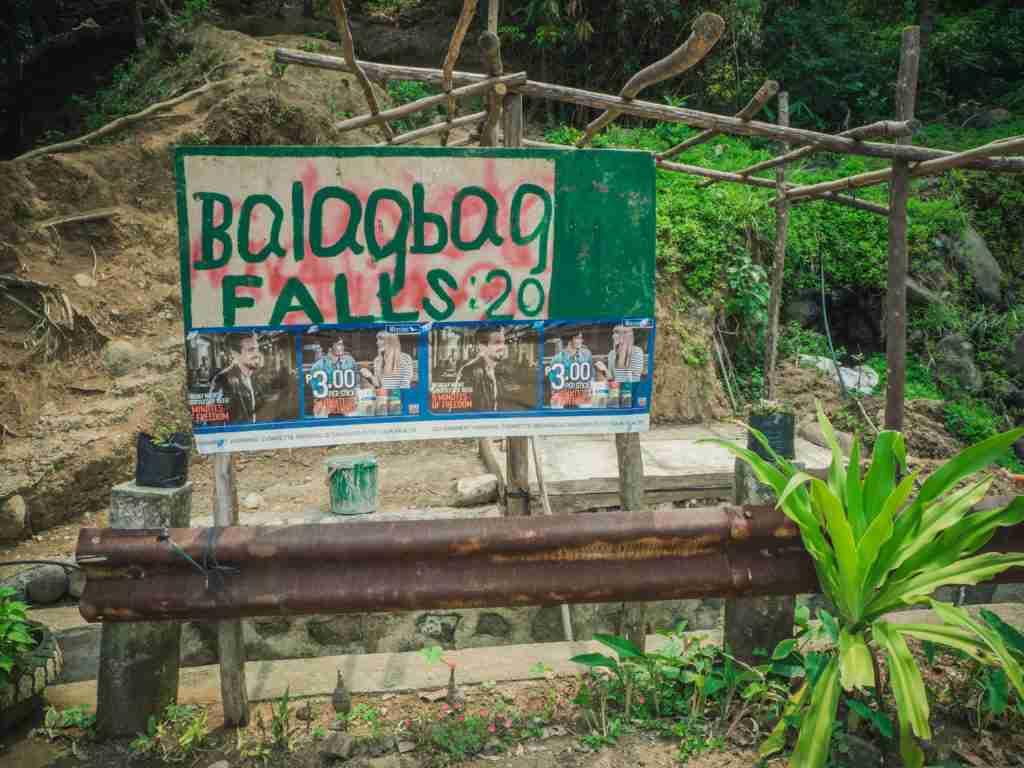 Balagbag falls entrance