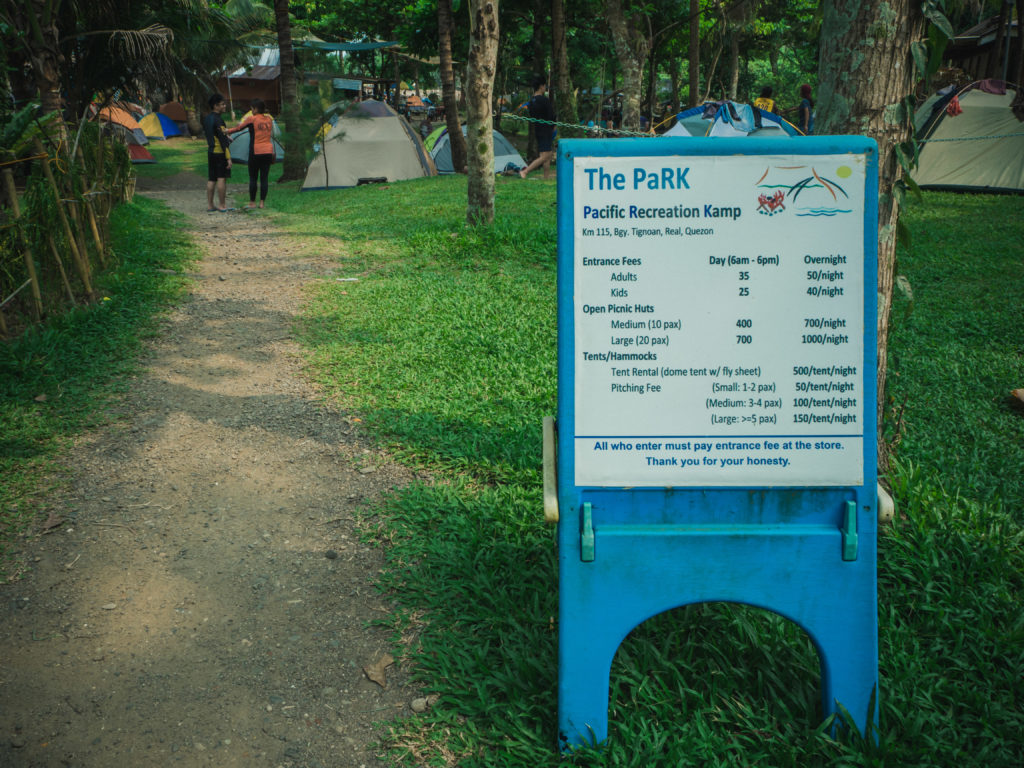 the park real quezon list of fees