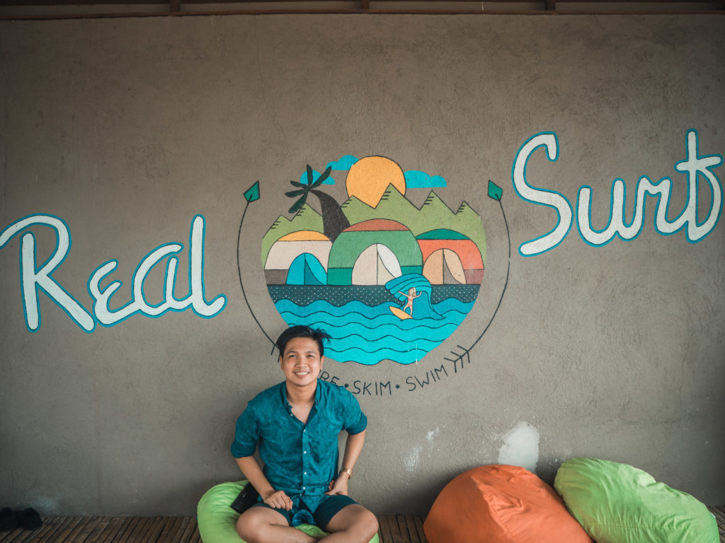 real coast and surf artwall