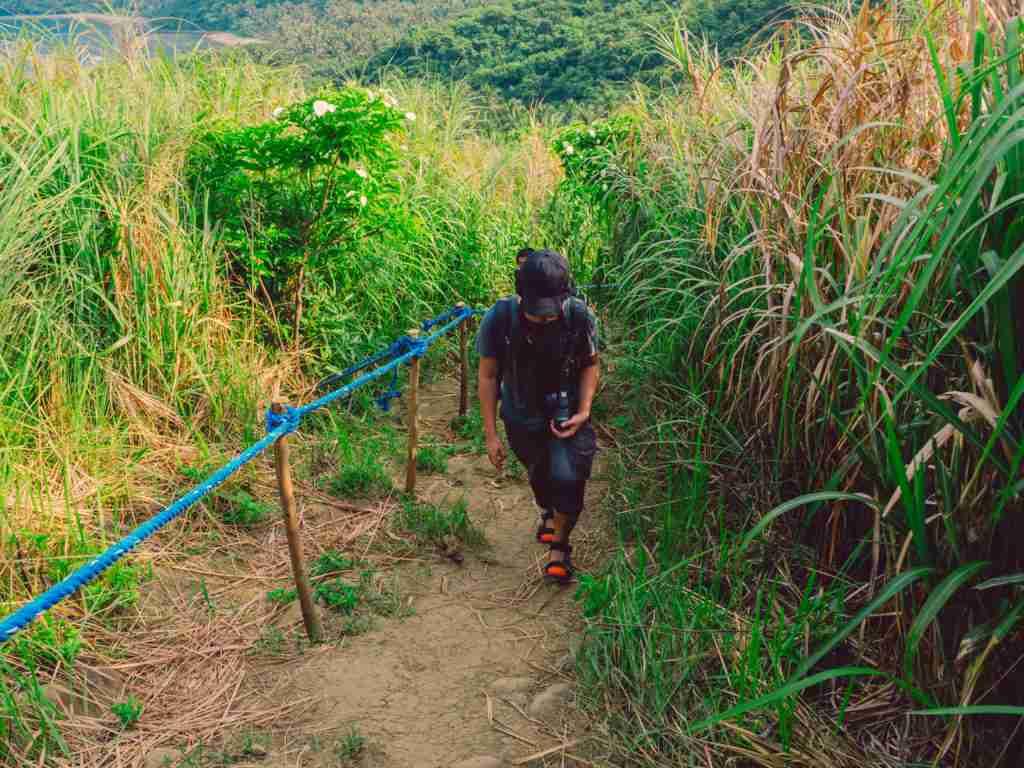 climbing and trekking up the mountain of dingalan
