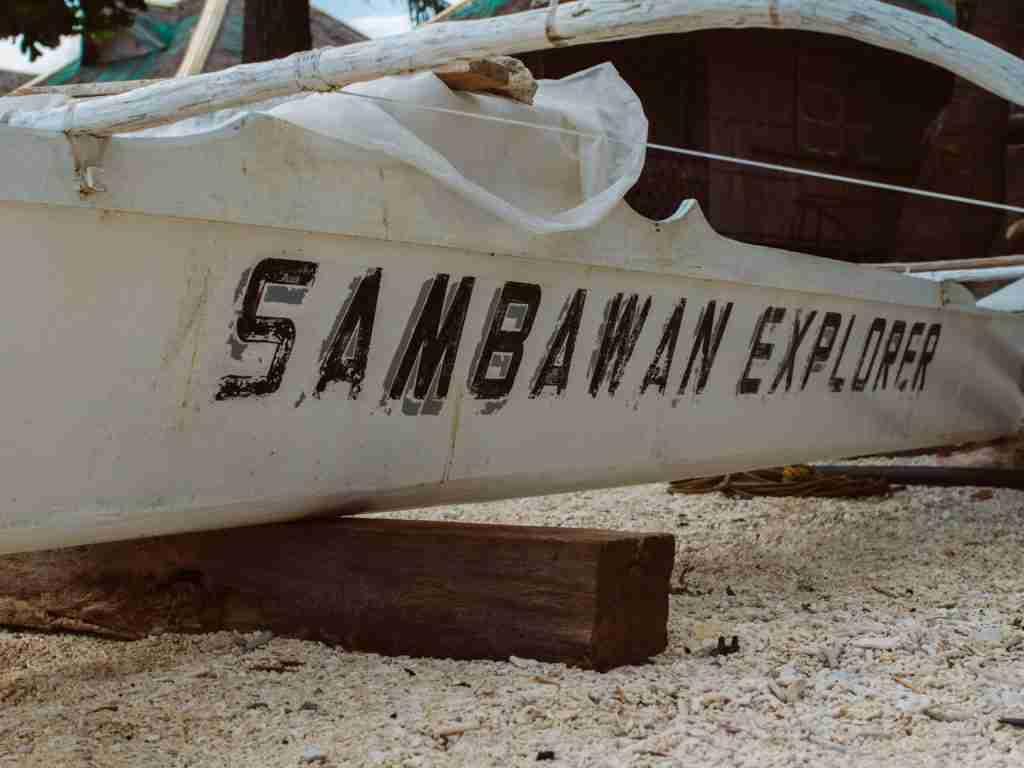 Sambawan Island boat