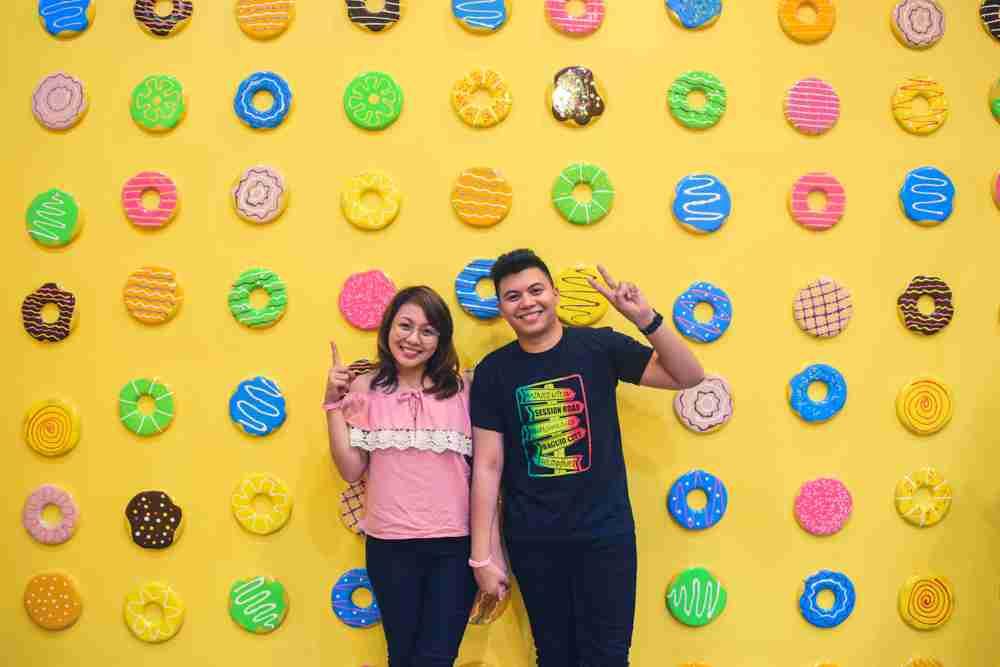 donut room in dessert museum manila