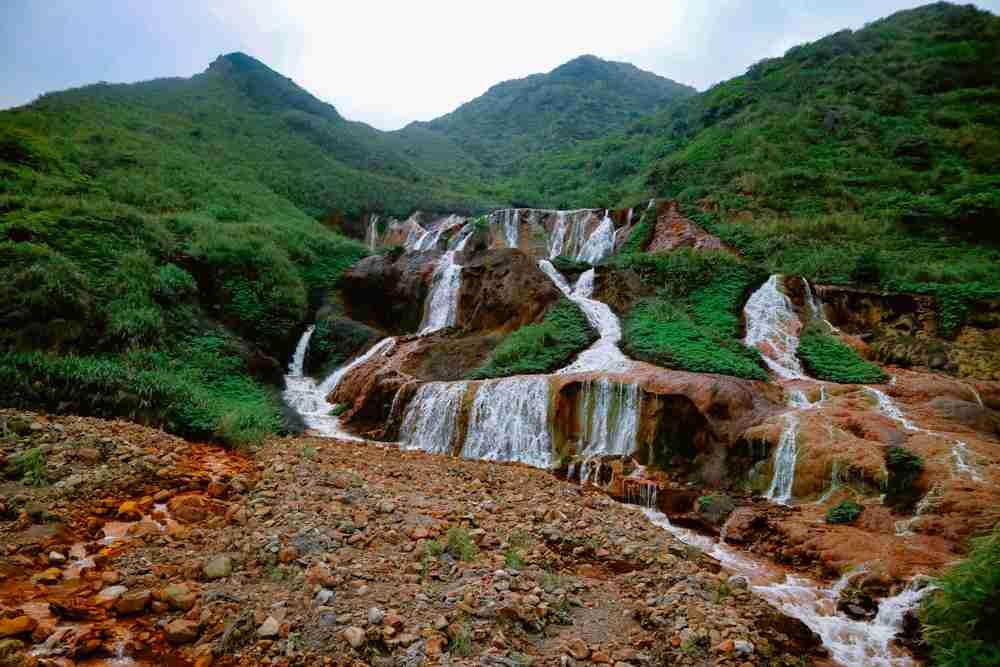 Golden waterfall in Taiwan