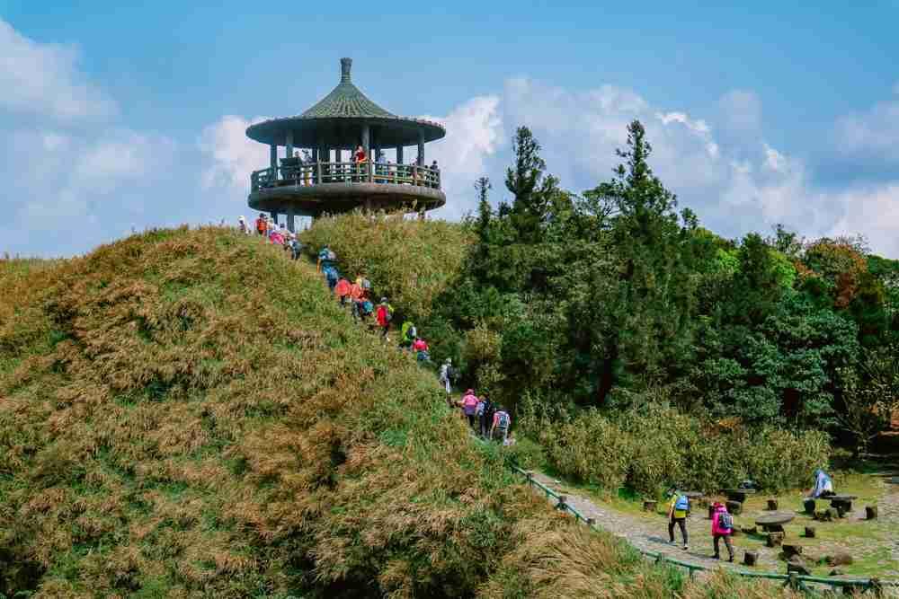 Viewing Deck in Yangmingshan National Park Taiwan