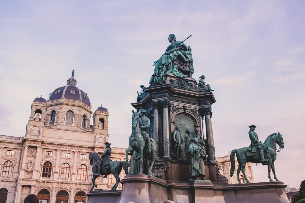 1 month europe trip maria theresa statue in vienna