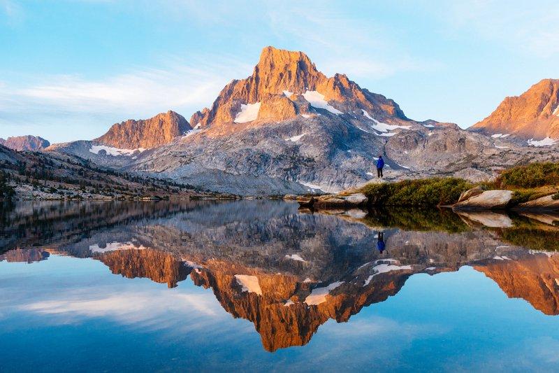 John Muir Trail secluded campsite, Sierra Nevada Backcountry