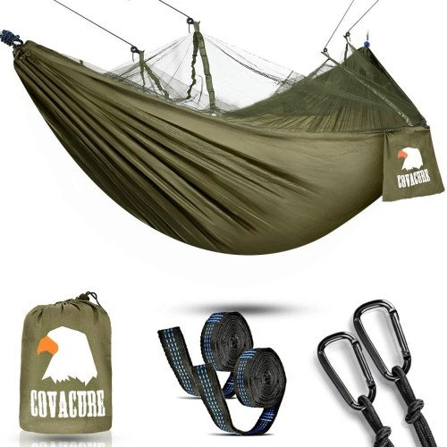 COVACURE Lightweight Double Hammock with Net