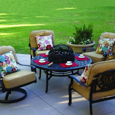 Darlee Elisabeth 5 Piece Patio Fire Pit Set