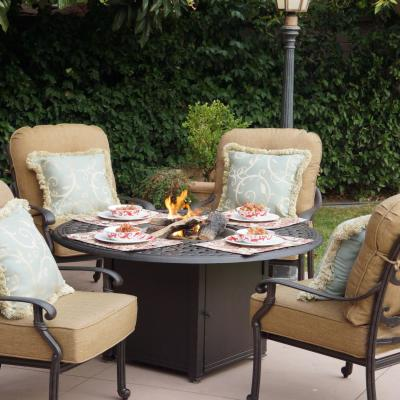 Darlee Santa Monica 5 Piece Fire Pit Patio Set