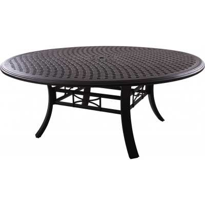 Darlee Series 99 71-Inch Cast Aluminum Patio Dining Table