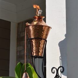 Starlite Patio Kona Deluxe Hammered Copper Sconce Torches