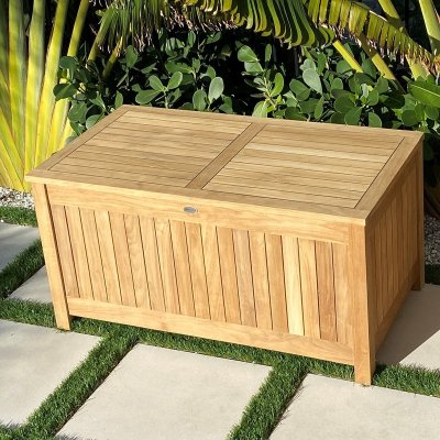 royal teak collection storage box closed